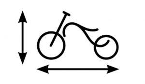 Größeneinstellung Fahrrad