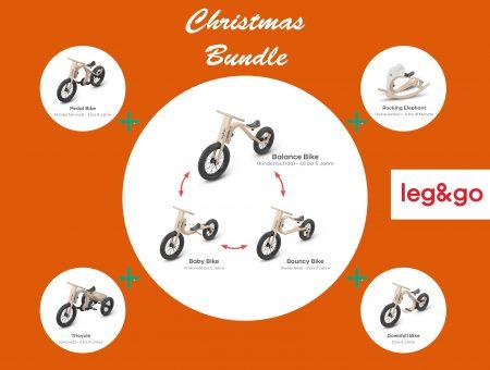 Kinder Weihnachtsgeschenke – Weihnachtsangebot Bundle Deal (Holzlaufrad)